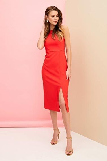 DeFacto Abiye Elbise Kırmızı